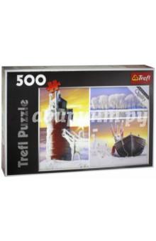 Trefl. Puzzle-500 Зима - коллаж (37242)Пазлы (400-600 элементов)<br>Пазл-мозаика.<br>Количество элементов: 500<br>Размер готовой картинки 48х34 см.<br>Материал: картон, бумага<br>Упаковка: картонная коробка.<br>Сделано в Польше.<br>