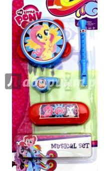 Набор музыкальных игрушек My Little Pony. Веселый концерт, комплект 2 (64977)Музыкальные инструменты<br>Набор музыкальных игрушек с изображением любимых героев мультсериала My Little Pony.<br>В наборе: бубен, свирель, губная гармошка, свисток.<br>Материал: пластмасса.<br>Упаковка: блистер.<br>Для детей от 3 лет.<br>Сделано в Китае.<br>