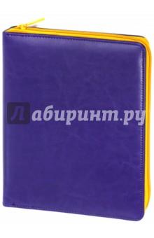 Органайзер на молнии. Фиолетово-оранжевый. 160 листов. А5+ (43148) Феникс+