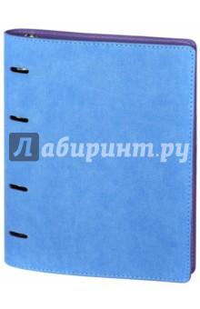 Тетрадь Копибук. Голубая-сиреневая, 160 листов, А5. Мягкая обложка (43143)Тетради многопредметные, со сменными блоками<br>Тетрадь Копибук в интегральном переплете из искусственной кожи. Голубая-сиреневая.<br>Общее количетство листов: 160 (2 блока по 80 листов). <br>Формат: А5. <br>Внутренний блок: офсет. В клетку. <br>Внутри дополнительный сменный блок.<br>