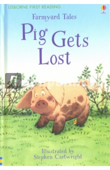 Farmyard Tales. Pig Gets LostЛитература на английском языке<br>Explore Apple Tree Farm as Poppy and Sam look everywhere for Curly the pig. This is a charming story for beginner readers. Dont forget to spot the Usborne Little Yellow Duck who is hiding on each page. A charming story from the Farmyard Tales series featuring much-loved characters Poppy and Sam, illustrated by Stephen Cartwright. Now part of the Usborne Reading Programme, published in B-format hardback with a ribbon marker.<br>First Reading Level Two books stretch the reader with more advanced storylines. They are 32 pages long, with extras including character pages and reading-related puzzles. Usborne First Reading titles are for beginner readers, containing short sentences and carefully controlled words and grammatical structures.<br>