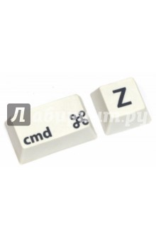 Ластик Undo Cmd+Z (25532)Ластики<br>Ластик Undo.<br>Выполнен в виде клавиш Cmd и Z.<br>Материал: резина.<br>Сделано в Испании.<br>