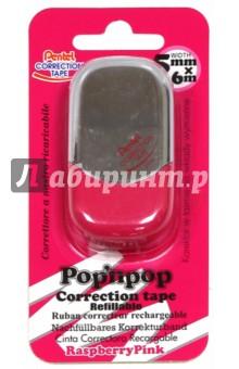 Лента корректирующая PopN Pop (6мх5мм, розовая) (ZTF5-P)Корректирующая жидкость<br>Лента корректирующая.<br>6 м х 5мм.<br>Пластиковый корпус.<br>Упаковка: блистер.<br>Сделано в Корее.<br>