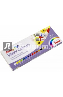 Акварель Water Colours, 15 цветов (03-5043/WFRS-15) Pentel