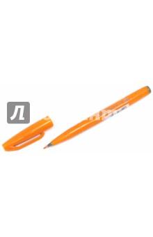 Фломастер-кисть, оранжевый цвет (SES15C-F)Другие виды кистей<br>Фломастер-кисть.<br>Цвет: зеленый.<br>Материал: пластмасса.<br>Сделано в Японии.<br>