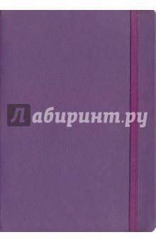 Записная книга на резинкеФиолетовая (96 листов, 145х205) (43531)Записные книжки большие (формат А5 и более)<br>Записная книга.<br>Закрывается на резинку.<br>Количество листов: 96.<br>Разлиновка: клетка.<br>Крепление: книжное.<br>Ляссе.<br>Сделано в Китае.<br>