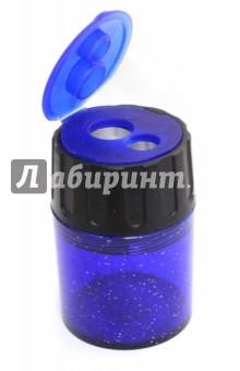 Точилка Staedtler с контейнером для стружки - 2 отверстия (5134)Точилки<br>Точилка с контейнером для стружки - 2 отверстия.<br>Цветной пластиковый корпус - синий с блестками.<br>Сделано в Германии.<br>
