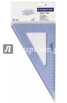 """Треугольник """"Mars 567"""" (пластиковый, 60°/30°, 26 см) (56726-60) STAEDTLER"""