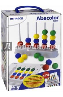 """Обучающий набор """"Цветной счет с бусинами"""" (95273 ) Miniland Educational"""