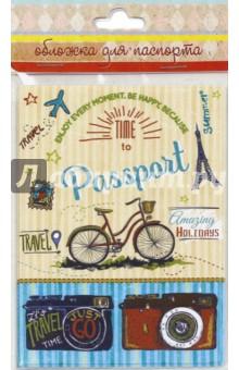 Обложка для паспорта Тревел байк (44507)Обложки для паспортов<br>Обложка для паспорта.<br>Размер: 13,3х19,1 см.<br>Материал: ПВХ.<br>Сделано в России.<br>