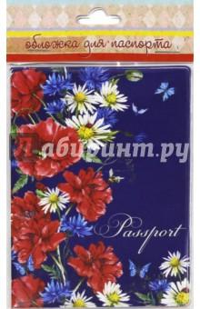 "Обложка для паспорта ""Маки и ромашки"" (44508) Феникс-Презент"