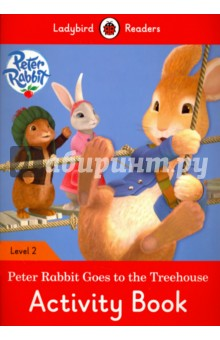 Peter Rabbit Goes to the Treehouse. Activity Book. Level 1Литература на иностранном языке для детей<br>One day, Peter Rabbit, Lily and Benjamin hear a noise. Mr Tod wants to eat them. Can we make a treehouse in your trees? they ask Squirrel Nutkin. But you are not squirrels, says Squirrel Nutkin. Can you climb and jump?<br>This brand-new Ladybird Readers ELT range is an essential teaching tool to create, encourage and support young learners of English as a foreign language.<br>The series adheres to CEF levels and the Cambridge YLE syllabus and is a mixture of traditional tales, modern stories, non-fiction and favourite brands such as Peppa Pig, Peter Rabbit and Topsy and Tim. Aimed at children age 5+, the range is perfect for use in the classroom and at home.<br>Each activity book includes language activities to support the CEF framework, as well as help young learners prepare for the Cambridge Young Learners English (YLE) exams and fulfils SSRW criteria.<br>Launching with twenty-eight readers and twenty-eight titles, ranging from classic fairy tales and non-fiction to favourite children s brands and original stories.<br>Each book has been carefully checked by educational consultants and can be read in the classroom or independently at home.<br>Peter Rabbit: Goes to the Treehouse is a Level 2 title, ideal for children who have received some reading instruction and can read short, simple sentences. It covers CEF level A1 and supports YLE movers exams.<br>