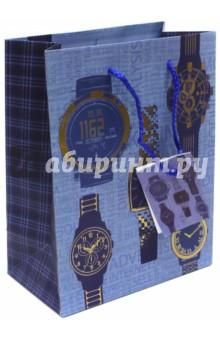 """Пакет бумажный """"Мужские часы"""" (17,8х22,9х9,8)(43504) Феникс-Презент"""