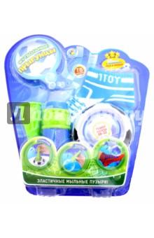 Эластичные мыльные пузыри в бутылке Футбольные прыгунцы (Т59341)Другие виды игрушек<br>Футбольные прыгунцы от компании 1 Toy - это набор для пускания мыльных пузырей, который способен скрасить досуг ребенка. В комплект входят 2 носка, рожок и лоток, а также специальный раствор без которого пускание мыльных пузырей невозможно. После того как раствор закончится, всегда можно сделать новый, просто разбавив немного мыла в воде.<br>Объем мыльного раствора 80 мл.<br>Материал: текстиль, пластмасса.<br>Упаковка: блистер.<br>Сделано в Китае.<br>