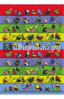 Сказкотерапия. Блокнот для записей Веселые птичкиБлокноты средние Линейка<br>Блокноты для записей Сказкотерапия сразу привлекают внимание ярким и позитивным дизайном и удобным карманным форматом . 64 линованные странички позволяют удобно делать заметки или наброски в любой момент, а симпатичная яркая обложка обязательно поднимет настроение! Сделаем жизнь ярче!<br>