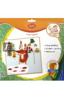 Набор для квиллинга Лисенок (60740)Другие виды конструирования из бумаги<br>Набор для квиллинга.<br>В наборе: основа с рисунком, набор полосок цветной бумаги, кисть, клей.<br>Упаковка: картонный блистер.<br>Для детей от 5 лет.<br>Сделано в Китае.<br>