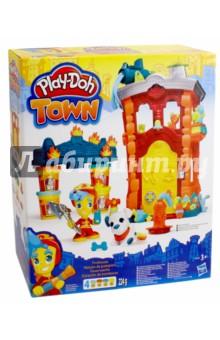 Набор Play-Doh Пожарная станция (B3415)Наборы для лепки с игровыми элементами<br>Потрясающий игровой набор из новой линейки бренда Плэй-До «Город» - Пожарная станция. Новая серия игрушек Play-Doh Town объединяет в себе традиционную лепку из пластилина и наборы фигурок людей и животных, городских зданий и различного городского транспорта. Из элементов набора Вы можете построить свой собственный город, при чем сами контейнеры с массой для лепки могут являться непосредственными частями Ваших построек.<br>В наборе: масса для лепки (224 гр.) и аксессуары. <br>Упаковка: коробка, картон.<br>Для детей от трех лет.<br>