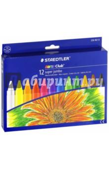 Мелки восковые NC Super Jumbo 226 (d=14 мм, 12 цветов)Мелки восковые<br>Мелки восковые.<br>Яркие цвета.<br>Количество цветов 12.<br>Диаметр 14 мм.<br>Сделано в Германии.<br>
