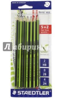 """Набор чернографитных карандашей """"Noris eco"""" (7 штук) (18030SBK7P) STAEDTLER"""