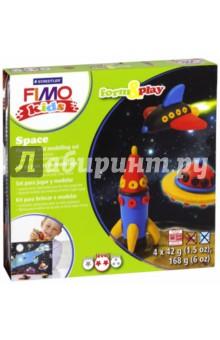 FIMO kids create &amp; play КосмосЛепим из пасты<br>Набор для создания украшений.<br>4 цвета по 42 грамма + аксессуары.<br>Уровень сложности: 2.<br>Сделано в Германии.<br>