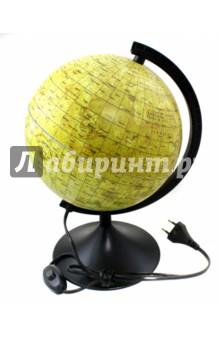 Глобус Луны (d210, подсветка) (К012100210)Глобусы<br>Глобус Луны<br>Диаметр: 210 мм.<br>С подсветкой.<br>Упаковка: фирменный пакет и картонная коробка.<br>Имеется переключатель подсветки на шнуре.<br>Сделано в России.<br>