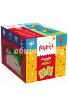 LUDATTICA Игра настольная МЕМОРИ ЩЕНКИ (52448)Карточные игры для детей<br>Игра-мемори для развития зрительной памяти.<br>Состав набора: 20 пар карточек из толстого прочного картона.<br>Размер коробки: 12,5х12,0х12,0 см<br>Возраст: от 3 лет.<br>Сделано в Италии.<br>
