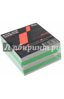 Блок для заметок, 9х9х4,5 см, цветной, 2 цвета (LN_10202) Хатбер