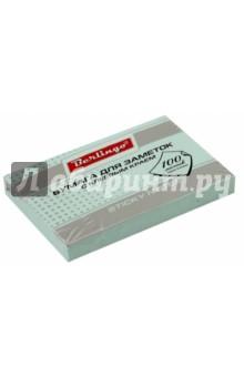 Бумага для заметок с клеевым краем, 100 листов, 76x51 мм ПАСТ, голубая (HN7651B) Хатбер