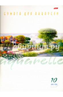 """Бумага для акварели, 10 листов, А4 """"Пейзаж"""" (10Ба4B_09132) Хатбер"""