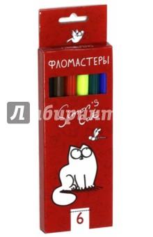 """Фломастеры """"Кот Саймона"""" (6 цветов) (BFk_06131) Хатбер"""