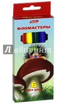 "Фломастеры ""Ёжики"" (6 цветов) (BFk_06300) Хатбер"