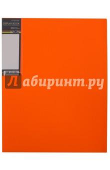 Папка с вкладышами, пластиковая, 20 вкладышей NEON DISPLAY BOOK, оранжевая (20AV4_02035) Хатбер
