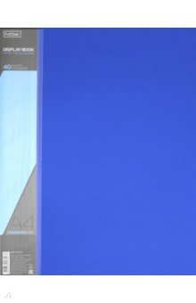 Папка с вкладышами, пластиковая, 40 вкладышей STANDARDLlINE DISPLAY BOOK, синяя (40AV4_00109)Папки с прозрачными файлами<br>Папка с вкладышами.<br>40 вкладышей.<br>Толщина корешка 21 мм.<br>Формат А4.<br>Материал: пластик.<br>Упаковка: пакет.<br>Сделано в России.<br>