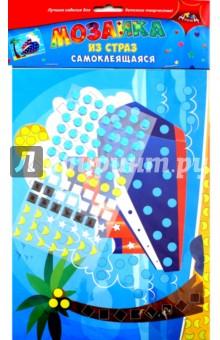 Мозаика из страз самоклеящаяся Корабль (С3081-02)Аппликации<br>Порадуйте вашего ребенка набором для творчества Мозаика из страз. Он очень прост в использовании. На цветную картонную основу приклеивайте элементы из страз. Каждому элементу соответствует свой цвет на рисунке. Будьте внимательны, и у Вас получится замечательная объемная яркая аппликация. <br>Не рекомендовано детям младше 3-х лет. Содержит мелкие детали.<br>Состав: этиленвинилацетат, бумага.<br>Сделано в Китае.<br>