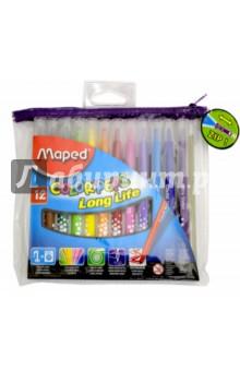 Фломастеры COLOR'PEPS Long Life, 12 цветов, смываемые (845017) MAPED