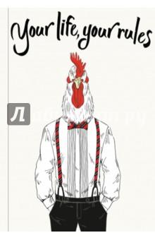 Блокнот для хипстеров Your life, your rules, А5-Блокноты большие Линейка<br>Яркие хипстерские блокноты: на обложках модные образы животных в стильной одежде.<br>