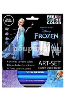 Арт-Сет (фломастеры и силуэт-альбом) Frozen (65066)