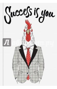 Success is you (Блокнот для хипстеров)Блокноты большие Линейка<br>Яркие хипстерские блокноты: на обложках модные образы животных в стильной одежде.<br>