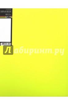 """Папка пластиковая """"DIAMOND NEON желтая"""" (20 вкладышей, А4, корешок 14 мм) (20AV4_02036) Хатбер"""