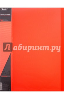 "Папка пластиковая ""DIAMOND красная"" (30 вкладышей, А4, корешок 17 мм) (30AV4_02015)"