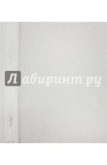 Папка-скоросшиватель пластиковая (прозрачный верх, А5, белая) (AS5_00100)