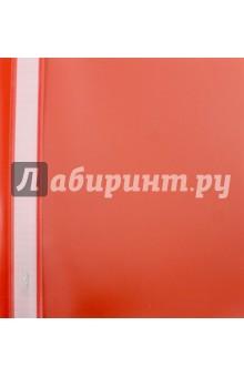 Папка-скоросшиватель пластиковая (прозрачный верх, А5, красный) (AS5_00103)