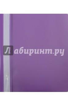 Папка-скоросшиватель пластиковая (прозрачный верх, А5, фиолетовая) (AS5_00107)