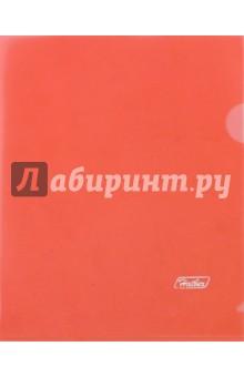 Папка-уголок пластиковая (А5, красная) (AG5_00103)