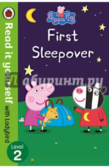 Peppa Pig. First SleepoverЛитература на иностранном языке для детей<br>Based on the award-winning series, Peppa Pig, Peppa Pig: First Sleepover is a sweet and funny story, perfect for encouraging new readers. Peppa Pig is going to her very first sleepover at Zoe Zebras house. The most important thing about a sleepover is that you must not sleep! With music, a midnight feast and a scary story, can Peppa and her friends stay awake? Read it yourself with Ladybird is one of Ladybirds best-selling reading series. For over thirty-five years it has helped young children who are learning to read develop and improve their reading skills. Each Read it yourself book is very carefully written to include many key, high-frequency words that are vital for learning to read, as well as a limited number of story words that are introduced and practised throughout. Simple sentences and frequently repeated words help to build the confidence of beginner readers and the four different levels of books support children all the way from very first reading practice through to independent, fluent reading. Each book has been carefully checked by educational consultants and can be read independently at home or used in a guided reading session at school. Further content includes comprehension puzzles, helpful notes for parents, carers and teachers, and book band information for use in schools. Peppa Pig: First Sleepover is a Level 2 Read it yourself book, ideal for children who have received some initial reading instruction and can read short, simple sentences with help.<br>