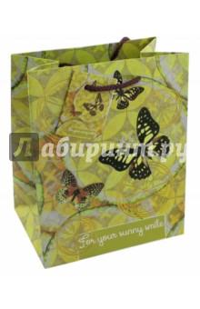 "Пакет бумажный ""Бабочки"" (17,8х22,9х9,8 см) (43513) Феникс-Презент"