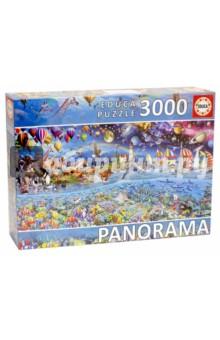 Пазл-3000 Жизнь (фрагмент) панорома (17132)Пазлы (2000 элементов и более)<br>Пазл-мозаика.<br>3000 деталей.<br>Размер собранной картинки: 144 х 68 см.<br>Материал: картон.<br>Упаковка: картонная коробка.<br>Сделано в Испании.<br>