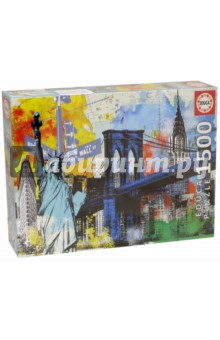 Пазл-1500 Символы Нью-Йорка (17120)Пазлы (1500 элементов)<br>Пазл-мозаика.<br>1500 деталей.<br>Размер собранной картинки: 85 х 60 см.<br>Материал: картон.<br>Упаковка: картонная коробка.<br>Сделано в Испании.<br>