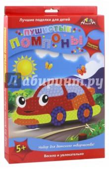 Пушистые помпоны Машинка (С2430-01)Аппликации<br>У Вас в руках набор для детского творчества Пушистые помпоны. Чтобы сделать пушистую картинку, приклейте на цветную картонную основу помпоны соответствующего цвета. Используйте глазки для декорирования. По контуру рисунка приклейте рамку. Забавные плюшевые картинки - отличный подарок, сделанный своими руками. <br>Состав набора: цветная картонная основа, помпоны из искусственного меха.<br>Для детей старше 5-ти лет.<br>Сделано в Китае.<br>