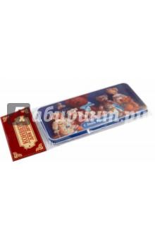 Подарочная коробочка для денег Конверт для денег. Медвежата (43674)Конверты для денег<br>Коробочка подарочная для денег.<br>Размер 16,6 х 7,6 х 1 см.<br>Материал: черный окрашенный металл.<br>Упаковка: пакет с подвесом.<br>Сделано в Китае.<br>